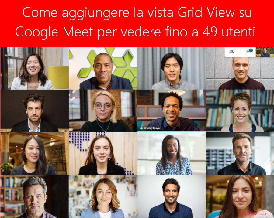 Come aggiungere l'estenzione Zoom Gallery a Google Meet utilizzando l'estensione Grid View