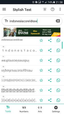 variasi jenis font whatsapp