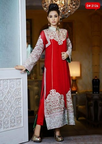 15 Fancy Up Do Tutorials: Needlez By Shalimar Fancy Dresses 2014-15