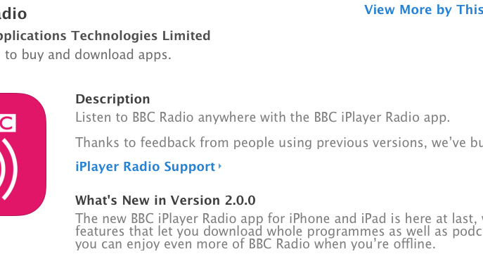 Pip Wilson bhp: Great NEW BBC Radio APP with downloads for