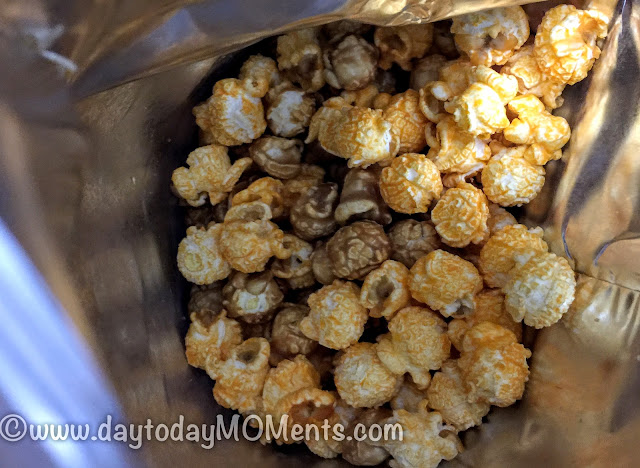 The Mix caramel and cheese popcorn mix