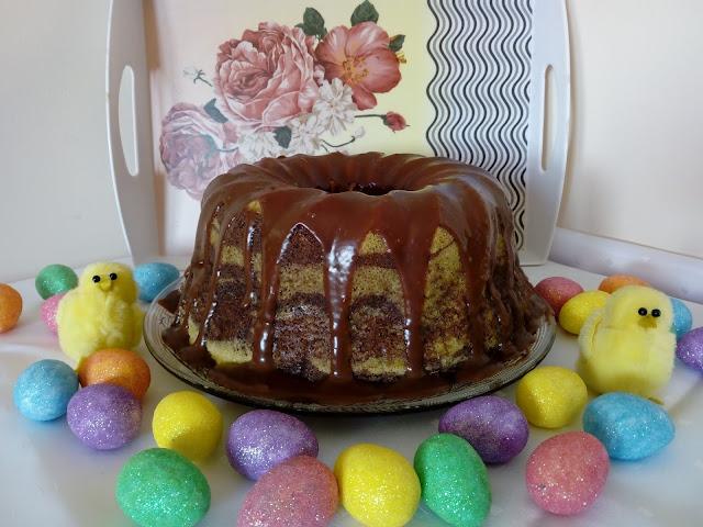 Gotowana babka marmurkowa gotowana babka zebra wilgotna babka babka waniliowo kakaowa babka z czekolada babka z biala czekolada i kawa