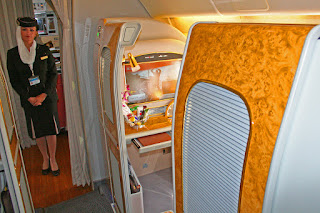 Emirates' first class suite, Boeing 777 and Airbus A380