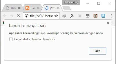 Contoh Penggunaan JavaScript