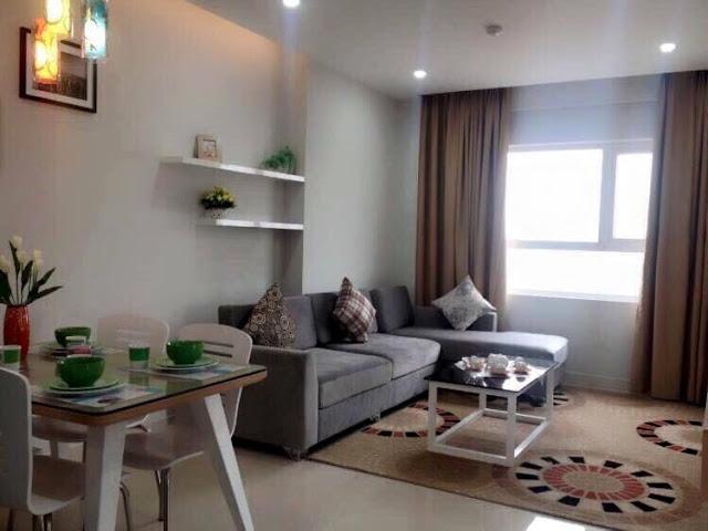 Thiết kế phòng khách Ecohome Phúc Lợi (hình ảnh thực tế căn hộ mẫu)