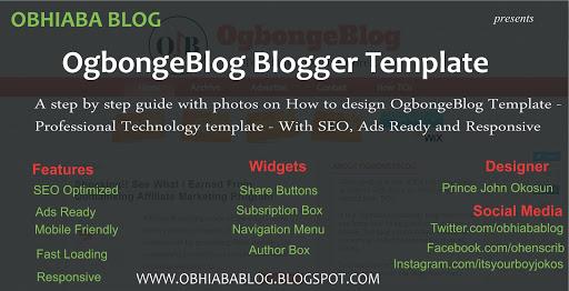 OgbongeBlog Blogger Template
