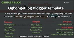 How To Design OgbongeBlog Blogger Template
