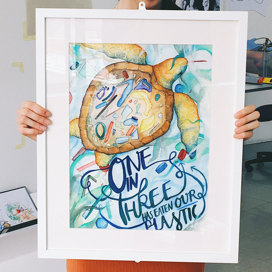 Think about your print turtle painting