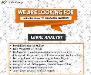 Lowongan Kerja Legal Analyst di PT Haka Sarana Investasi