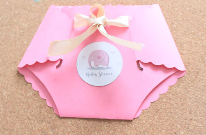 Invitacion En Forma De Pañal Para Tu Baby Shower Party Pop
