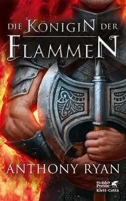 Bücherblog. Rezension. Buchcover. Die Königin der Flammen (Band 3) von Anthony Ryan. High Fantasy.