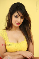 Cute Telugu Actress Shunaya Solanki High Definition Spicy Pos in Yellow Top and Skirt  0529.JPG