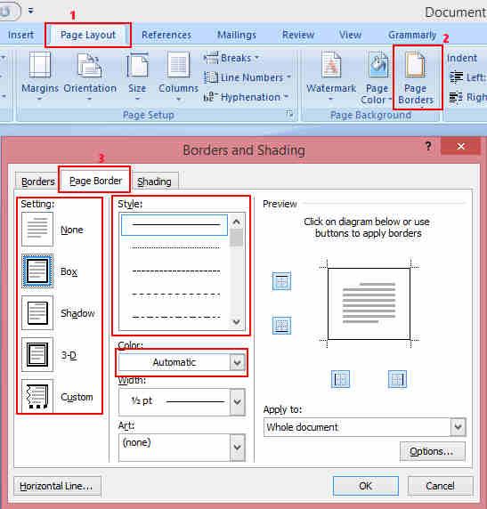 Cara Menambah Bingkai atau Border pada Teks dan Paragraf Microsoft Word