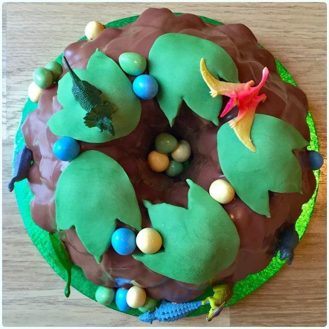 Dinosaur Bundt Cake