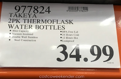 Deal for the Takeya ThermoFlask Water Bottle at Costco