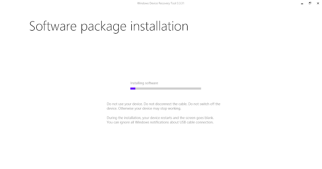 windows phone recovery tool installing