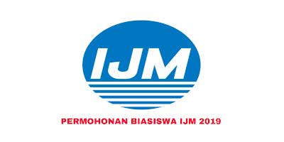 Permohonan Biasiswa IJM 2019 Online