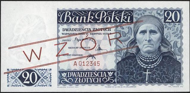 Poland currency money 20 Polish banknotes złoty zlotych