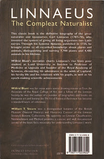 Back Cover of Linnaeus: The Compleat Naturalist