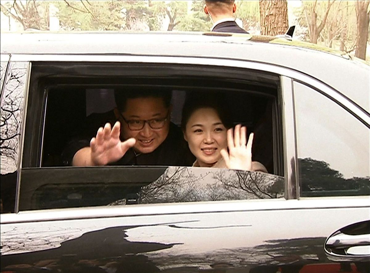 Ri was previously referred to as 'comrade' by the North's state media, and the weekend report was the first time the 'First Lady' title had been used to describe the leader's spouse since 1974.