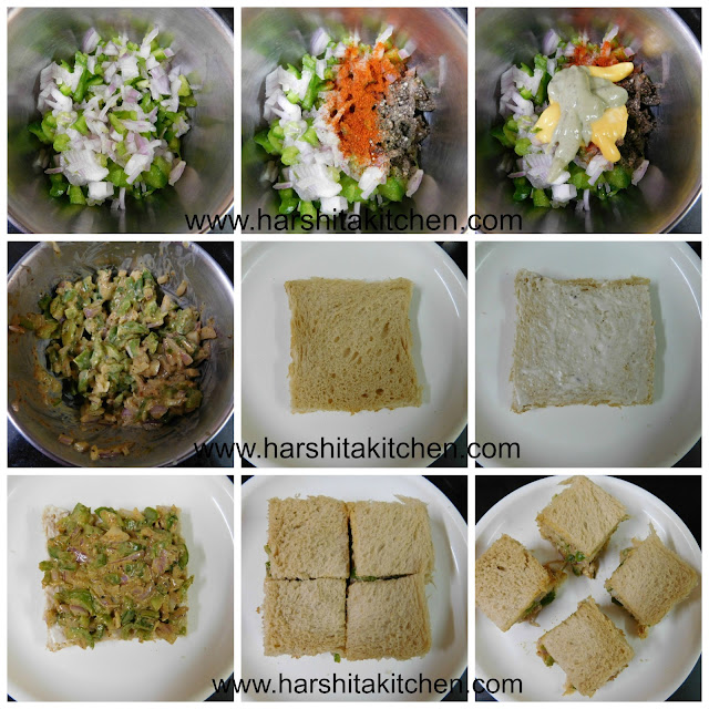 finger sandwiches step by step