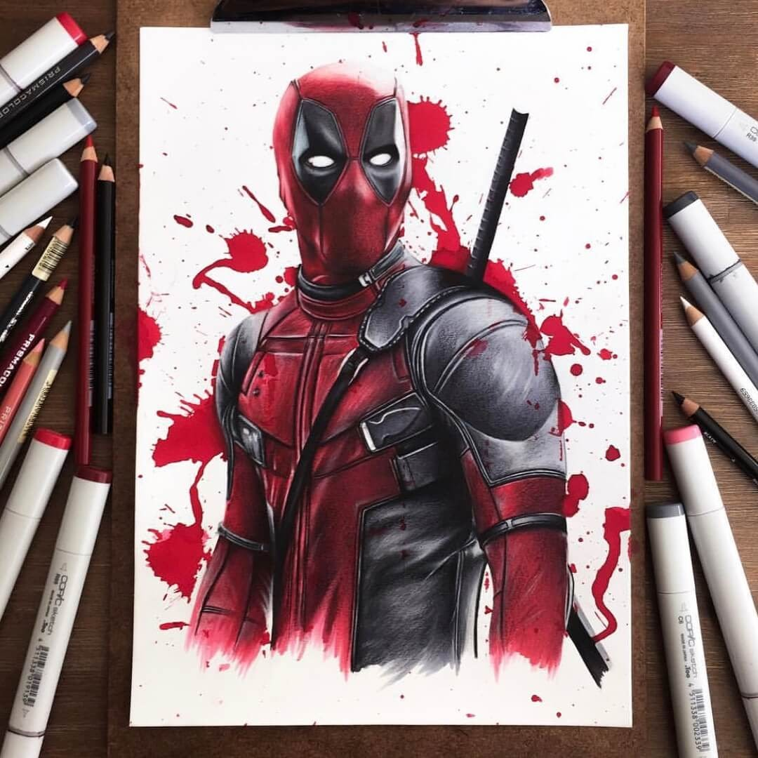 10-Deadpool-Stephen-Ward-Movie-and-Comics-Superheroes-and-Villains-Drawings-www-designstack-co