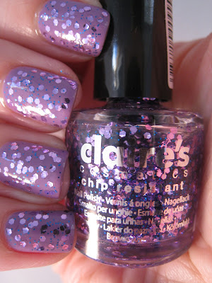 Hello-Kitty-Beat-Box-Claire's-lilac-and-blue-glitter-nail-polish
