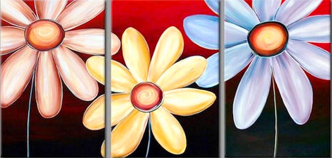 bodegn de flores bcuadro triptico