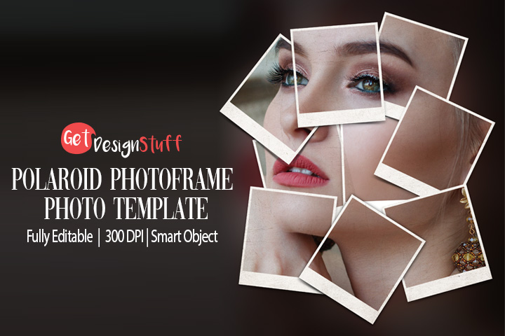 1988 Download Polaroid Photoframe Photo Template Free Psd