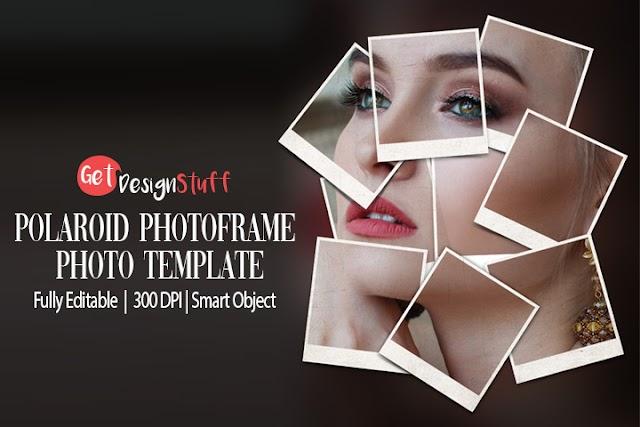 Polaroid Photoframe Photo Template Free Psd