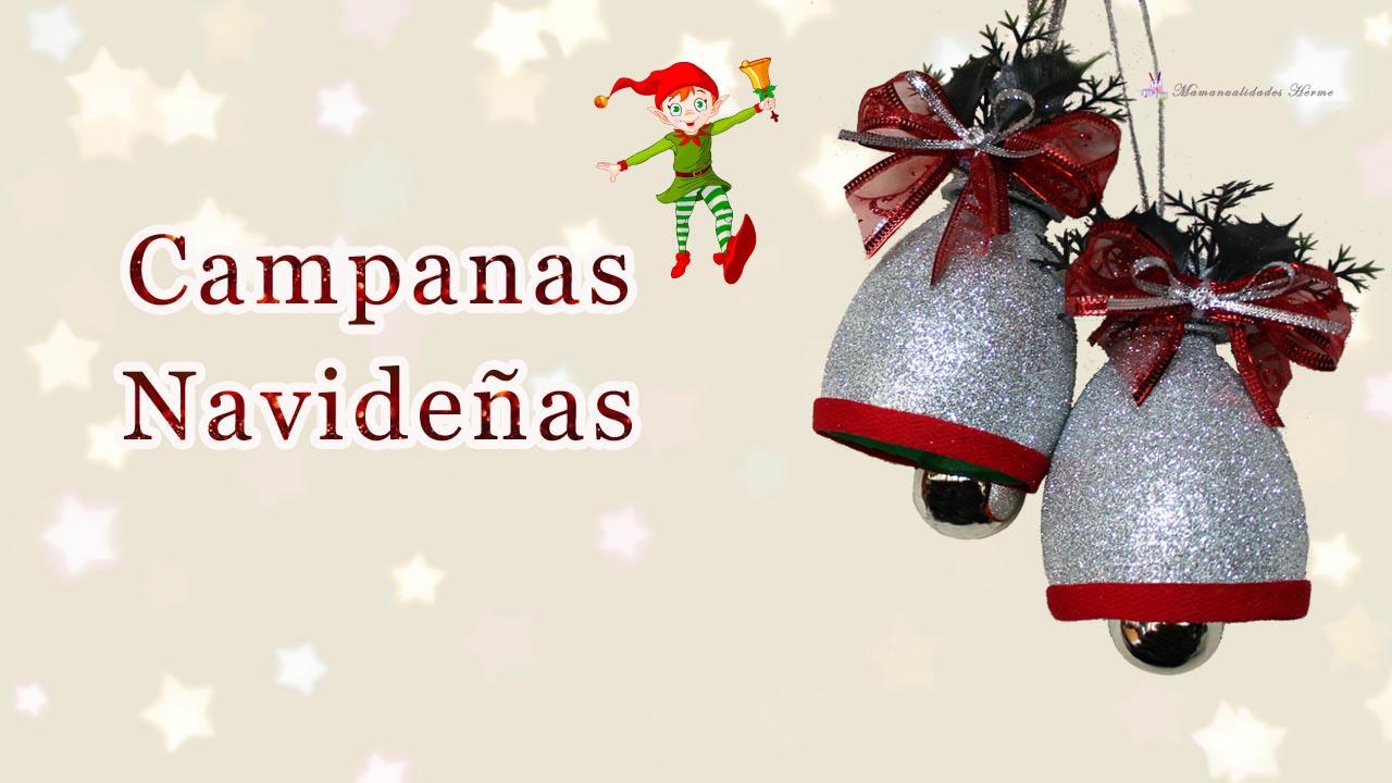 Manualidades De Navidad Campanas.Manualidades Herme Campanas Navidenas Con Botellas Pet
