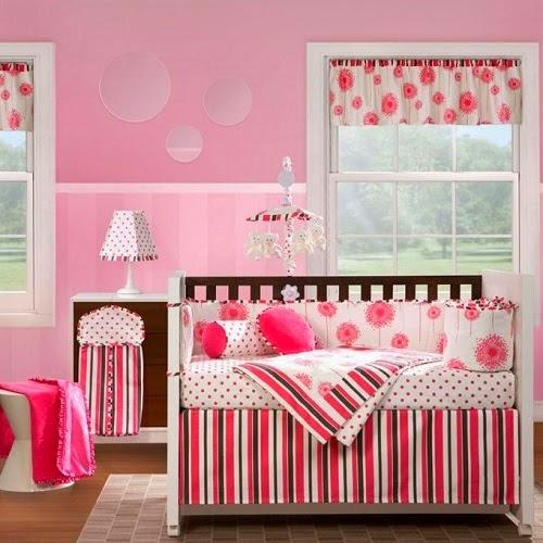 cuarto color rosa para bebé