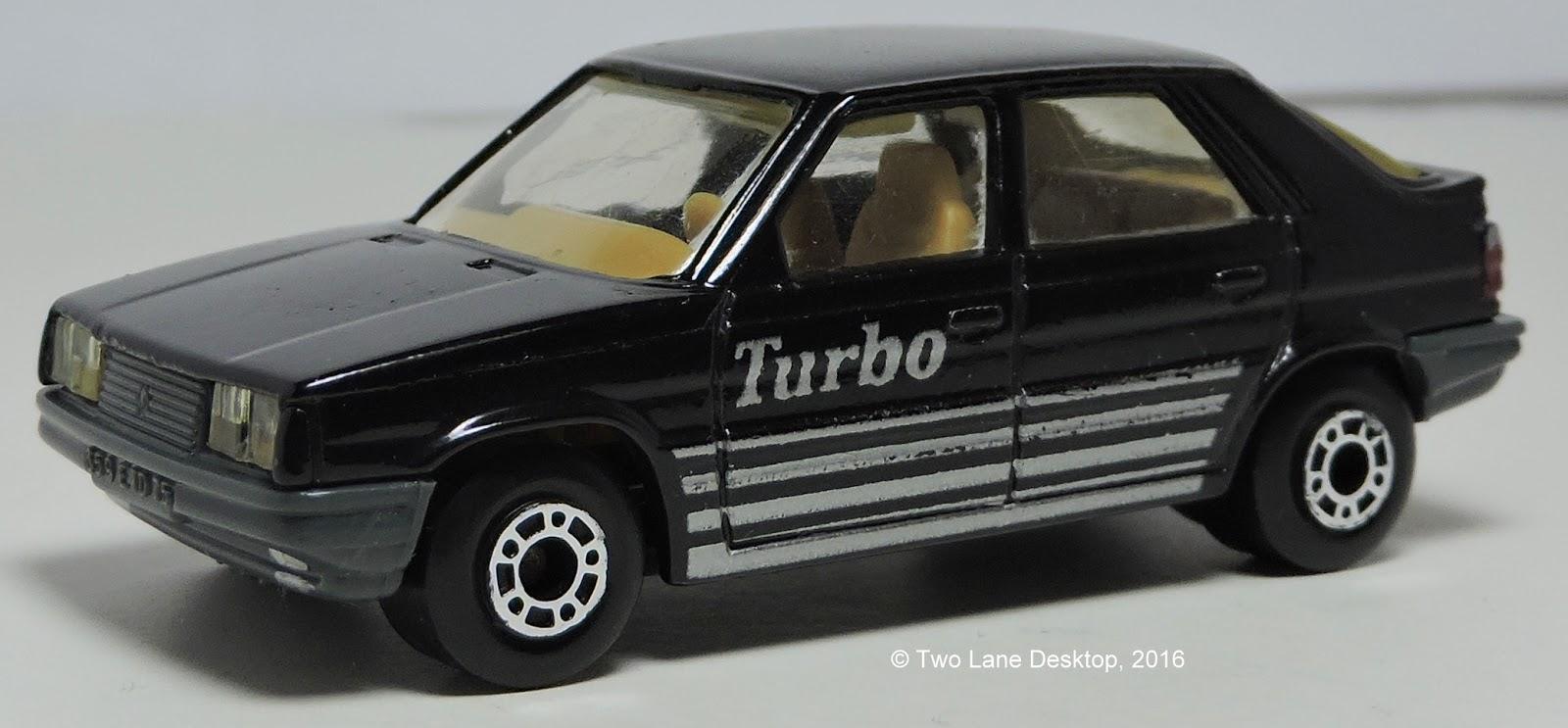 Two Lane Desktop Matchbox 1984 Dodge Caravan And Renault 11 Turbo