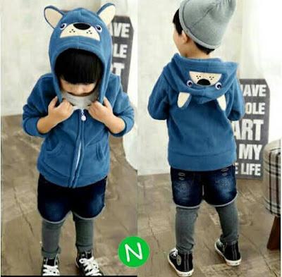 Jual Baju Anak Jaket Bear Hoodie (Kids) - 12263