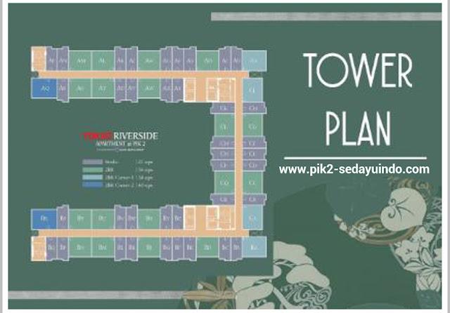 Tower plan Apartemen Tokyo Riverside PIK 2 Jakarta