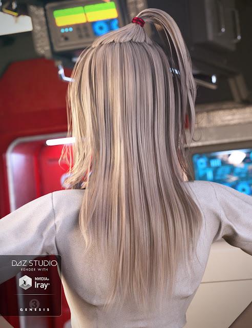 Tra La La Hair for Genesis 3 Female