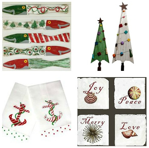 Coastal Nautical Christmas Decor Accessories