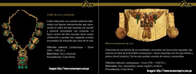 Peças pré-colombianas no Museu Ouro do Peru - Lima
