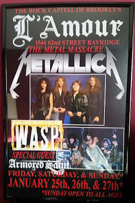 Poster from the legendary weekend of shows back in 1985 with Metallica... WASP & Armored Saint