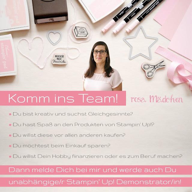 Werde Stampin' Up! Demonstrator im Team Rosa Mädchen (Kulmbach, Bayreuth, Lichtenfels, Kronach)