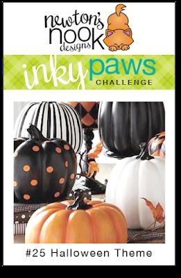 Inky Paws Challenge #25  Halloween Theme | Newton's Nook Designs