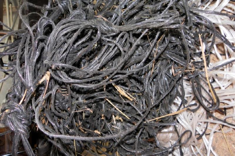 recyclage et réutilisation de ficelle agricole, réalisation de sac recyclés