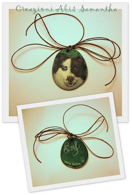 prezzo  ritratti dipinti di cane su portachiavi