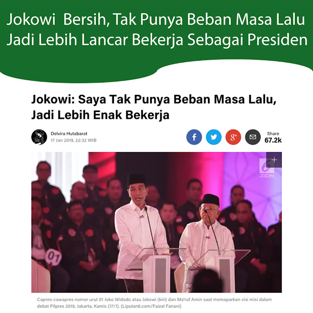 Jokowi: Saya Tak Punya Beban Masa Lalu, Jadi Lebih Enak Bekerja
