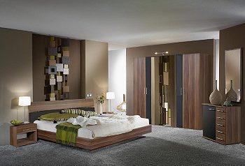 Dormitorios en color marr n chocolate colores en casa - Paredes grises y muebles marrones ...