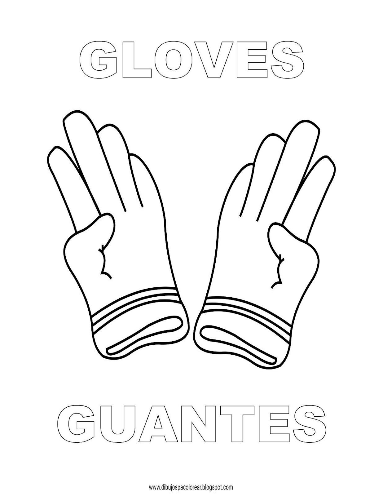 Dibujos Ingles Espanol Con G Guantes Gloves