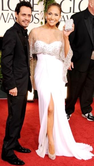 Foto de Marc Anthony en la alfombra roja con Jennifer López