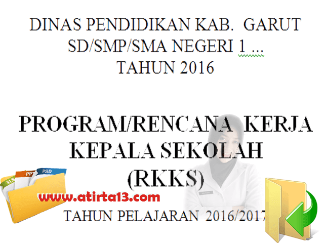 Program/Rencana Kerja Kepala Sekolah ( RKKS ) SD SMP SMA Terbaru 2016 Format Words