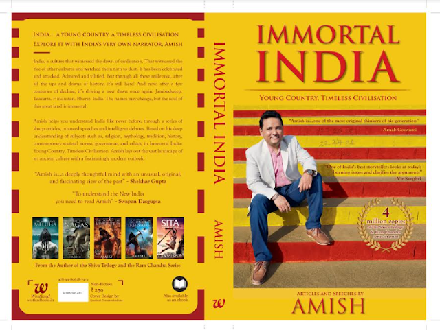 India's Top Storyteller, Amish, launches his 1st  Non- Fiction Book: Immortal India