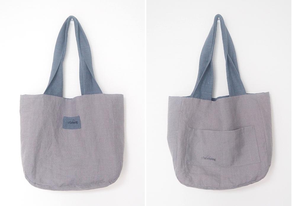 Two-sided Linen Shopper Bag ~ Free-Tutorial.net